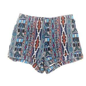 F21 Aztec print stretchy shorts M